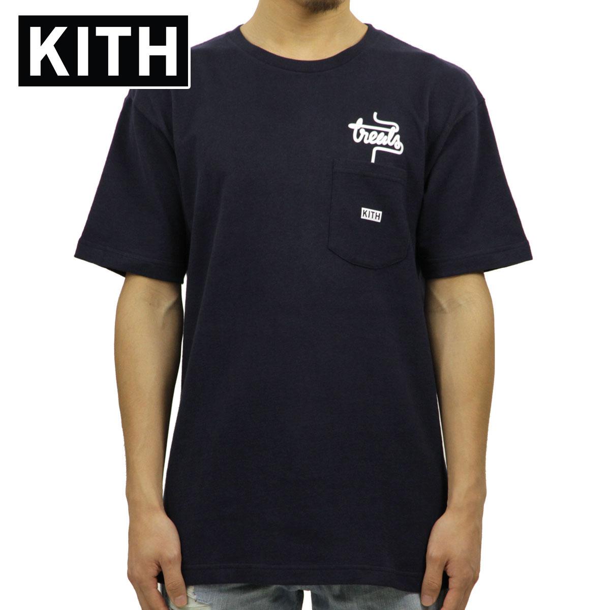 キス KITH 正規品 メンズ クルーネック 半袖ポケTシャツ KITH TREATS MILKSHAKE SPECIAL POCKET TEE KH3327-102 NAVY