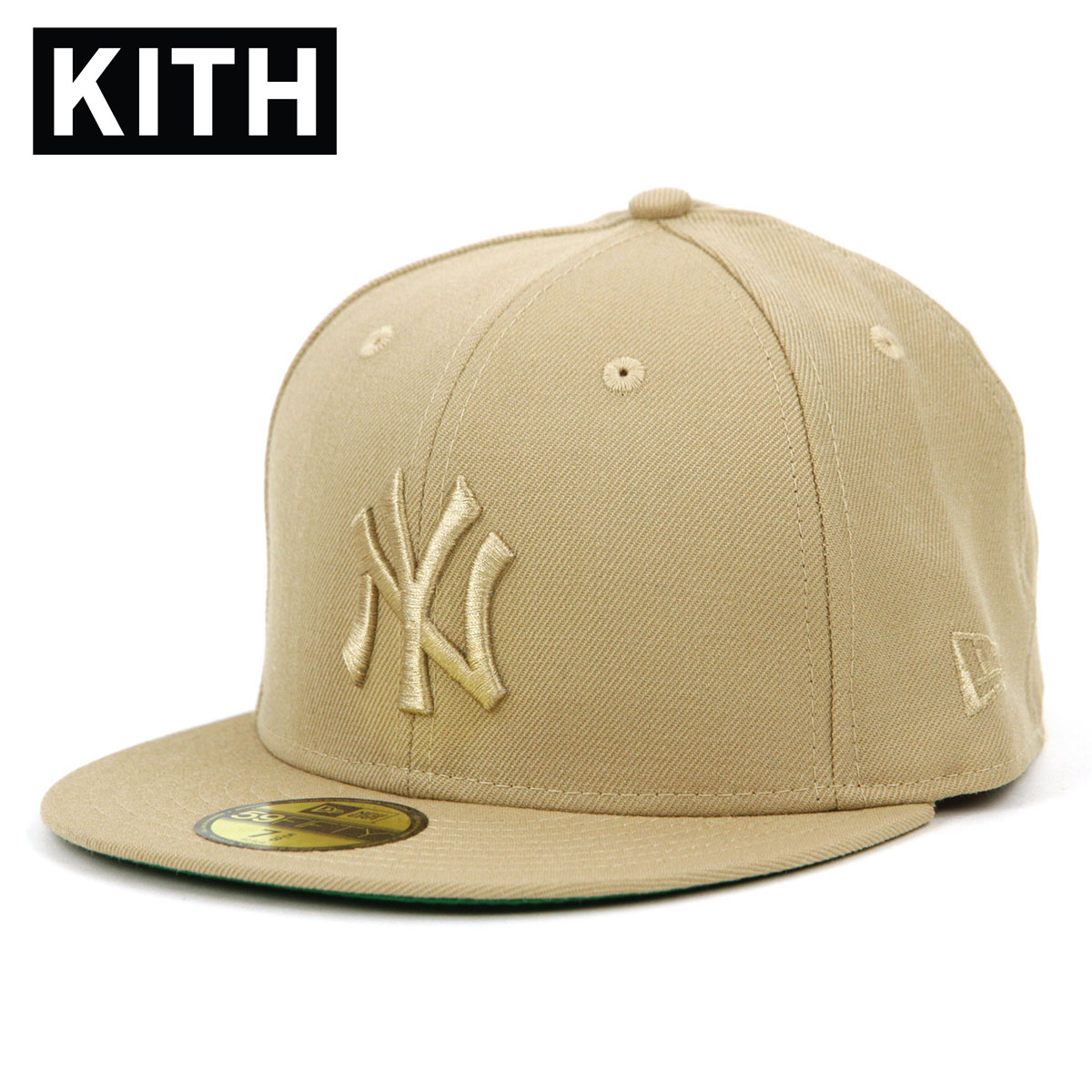 【あす楽対応】 送料無料 A95B B1C C3D D4E E18F キス キャップ メンズ 正規品 KITH 帽子 KITH X NEW ERA X NEW YORK YANKEES 59FIFTY CAPS BEIGE