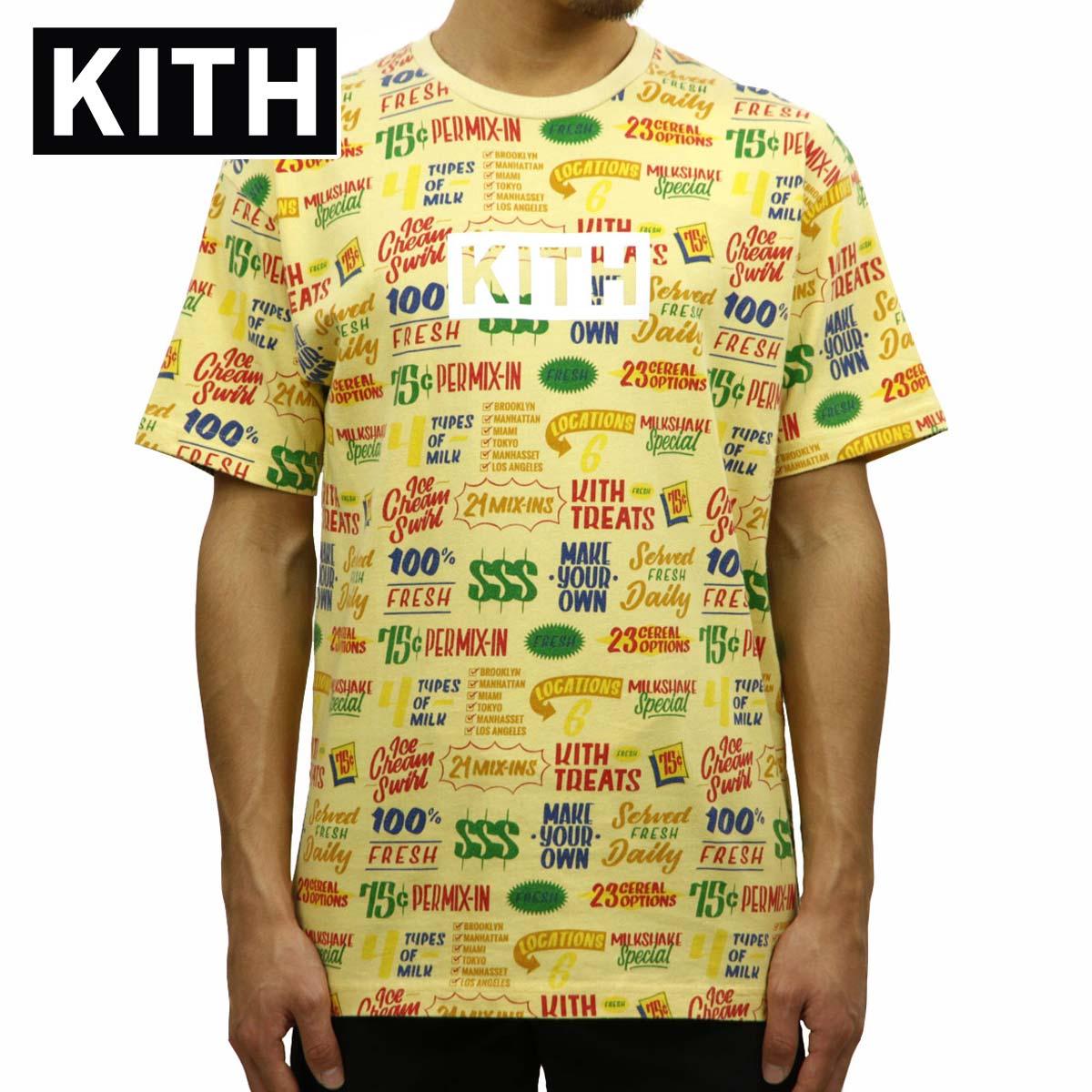 キス KITH 正規品 メンズ クルーネック 半袖Tシャツ KITH TREATS CIRCULAR TEE KH3371-112 YELLOW