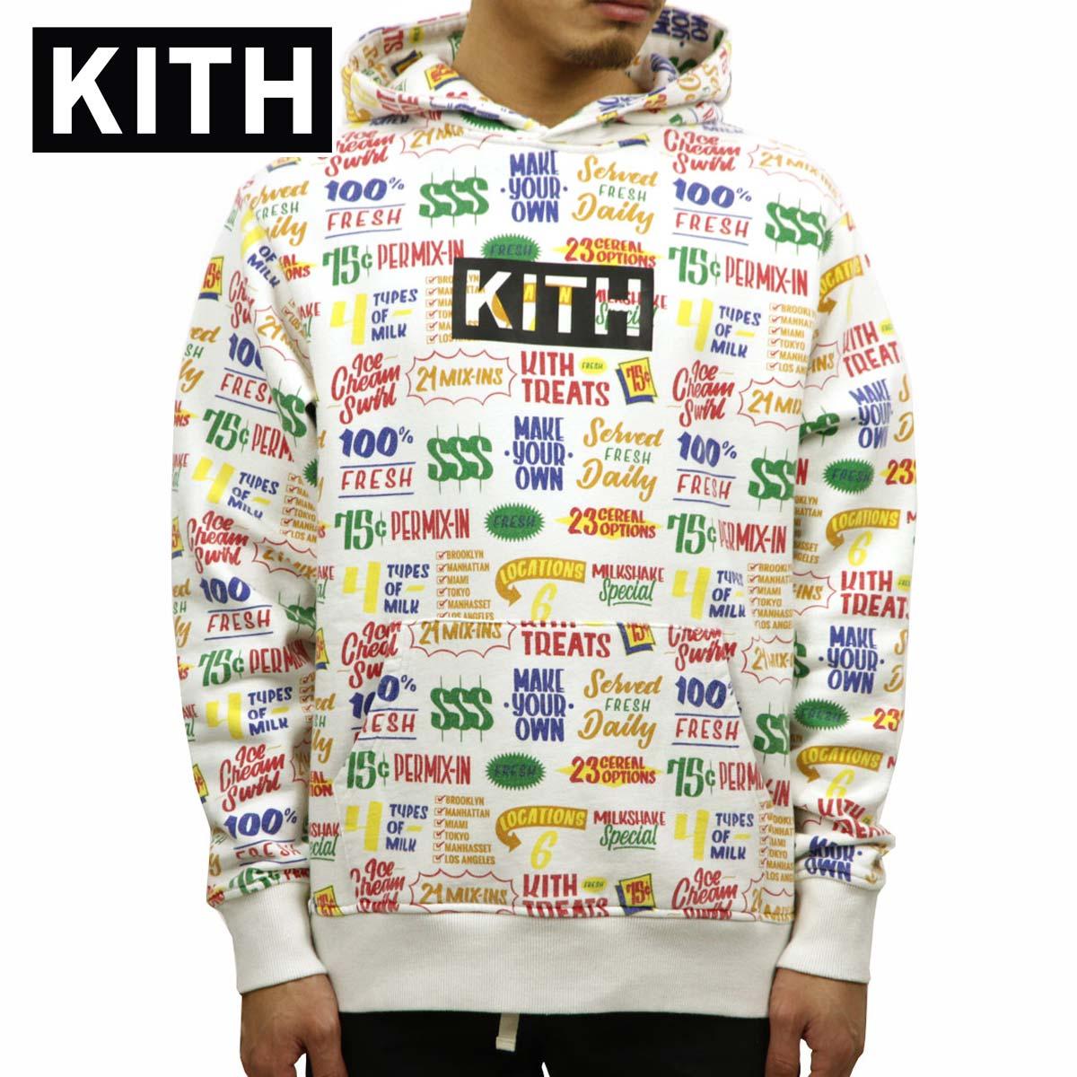 キス KITH 正規品 メンズ プルオーバーパーカー KITH TREATS CIRCULAR HOODIE KH2243-101 WHITE