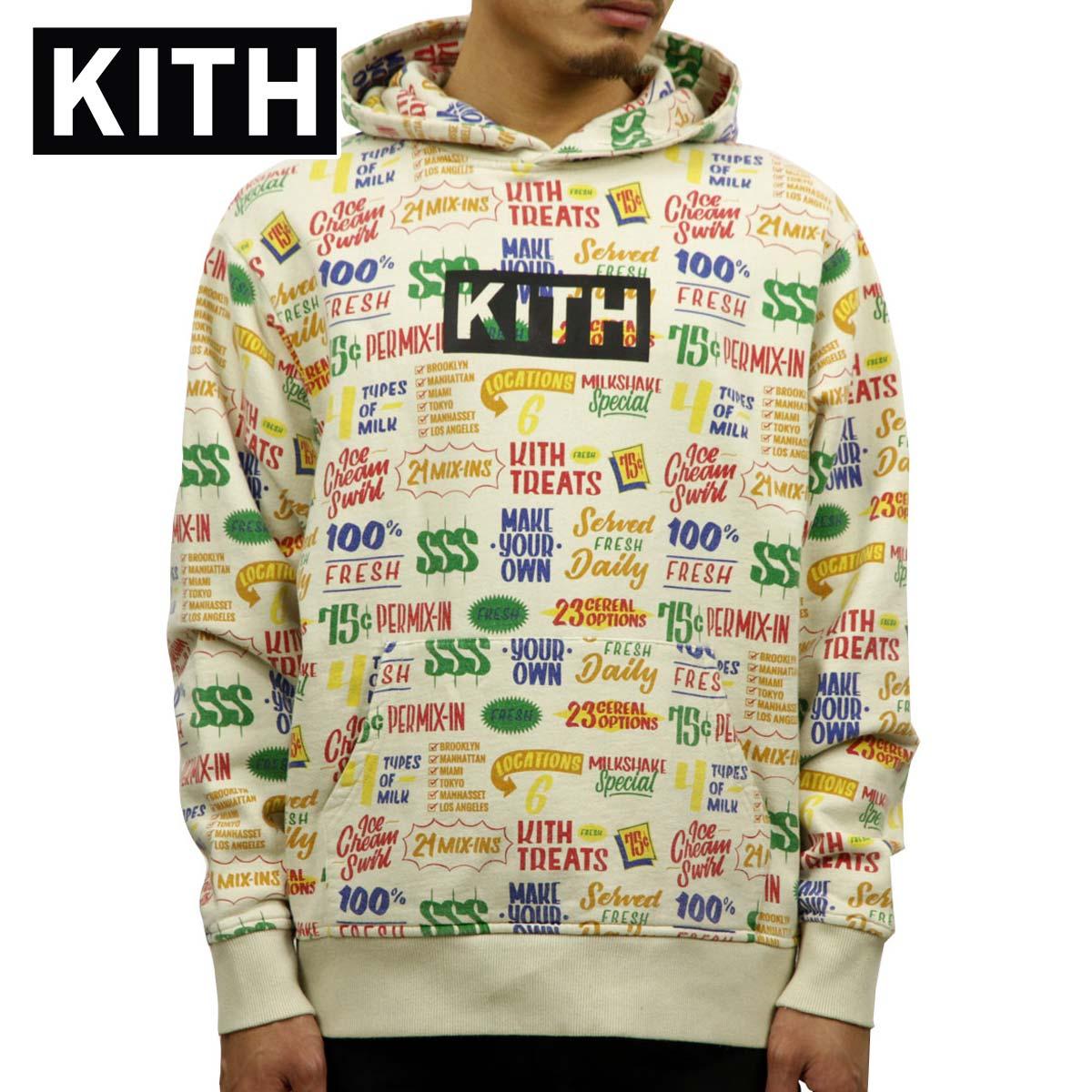 キス KITH 正規品 メンズ プルオーバーパーカー KITH TREATS CIRCULAR HOODIE KH2243-104 TURTLE DOVE