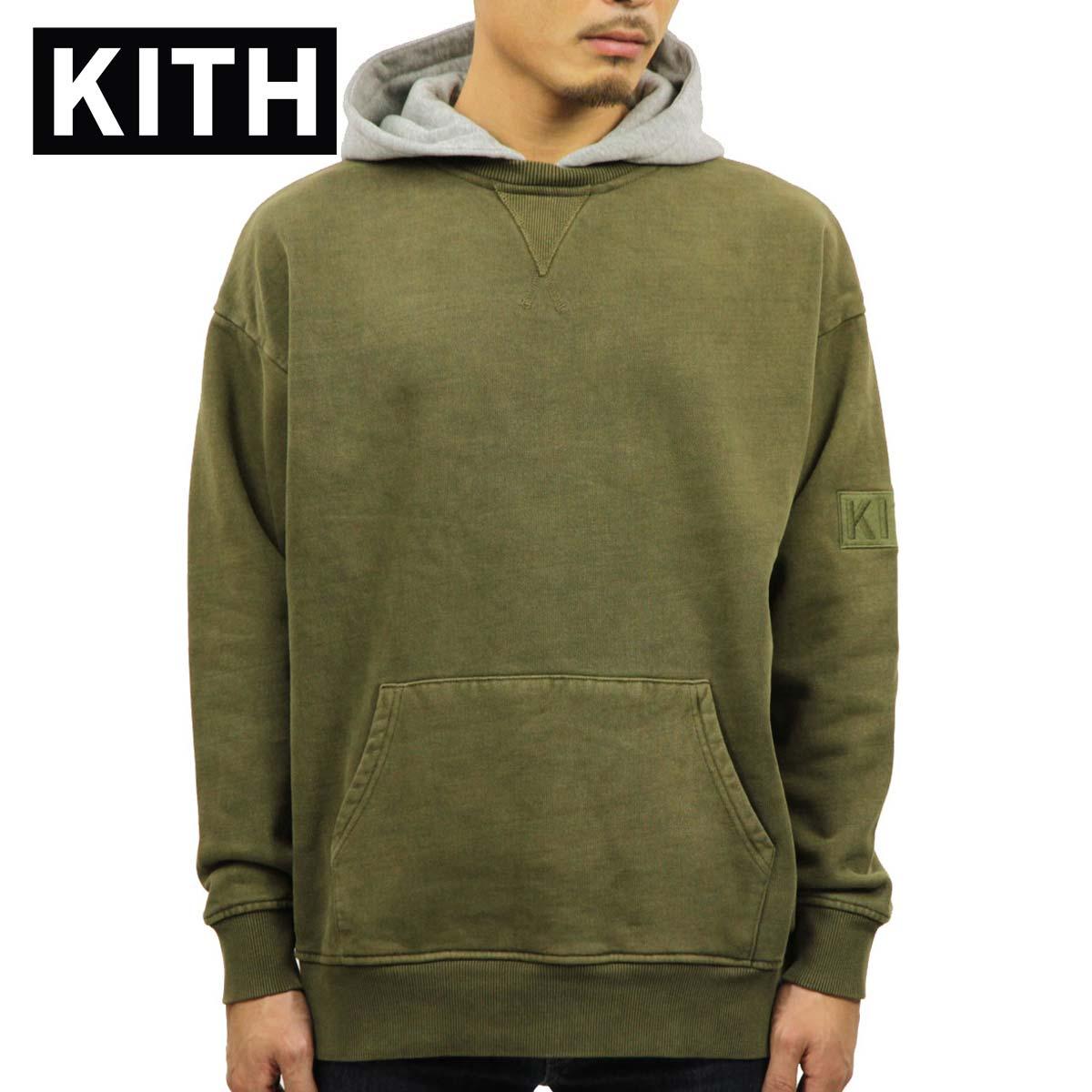 キス KITH 正規品 メンズ プルオーバーパーカー KITH TWO-TONE WILLIAMS II HOODIE KH2223-106 OLIVE / HEATHER GREY
