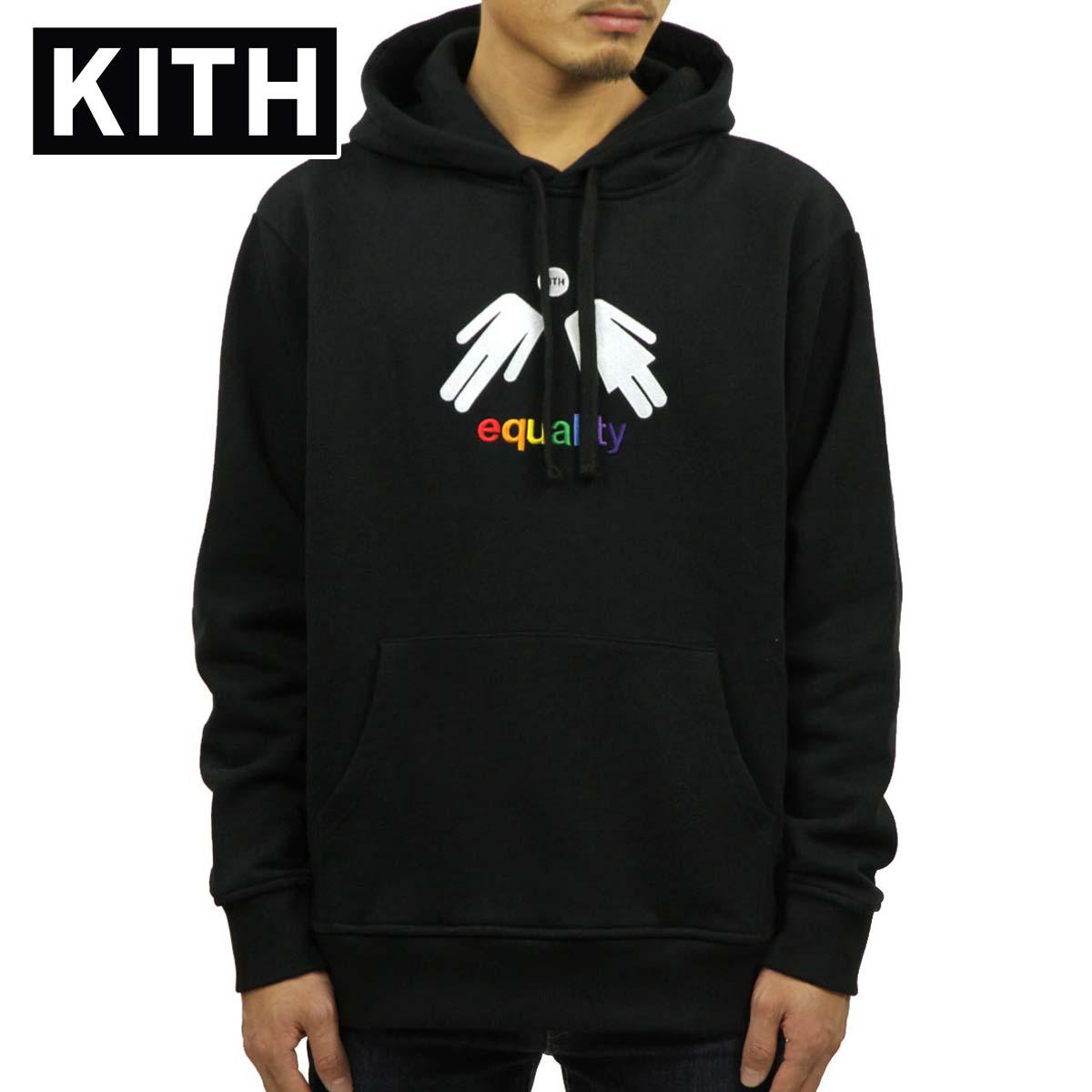 キス KITH 正規品 メンズ プルオーバーパーカー KITH EQUALITY HOODIE KH2227-100 BLACK