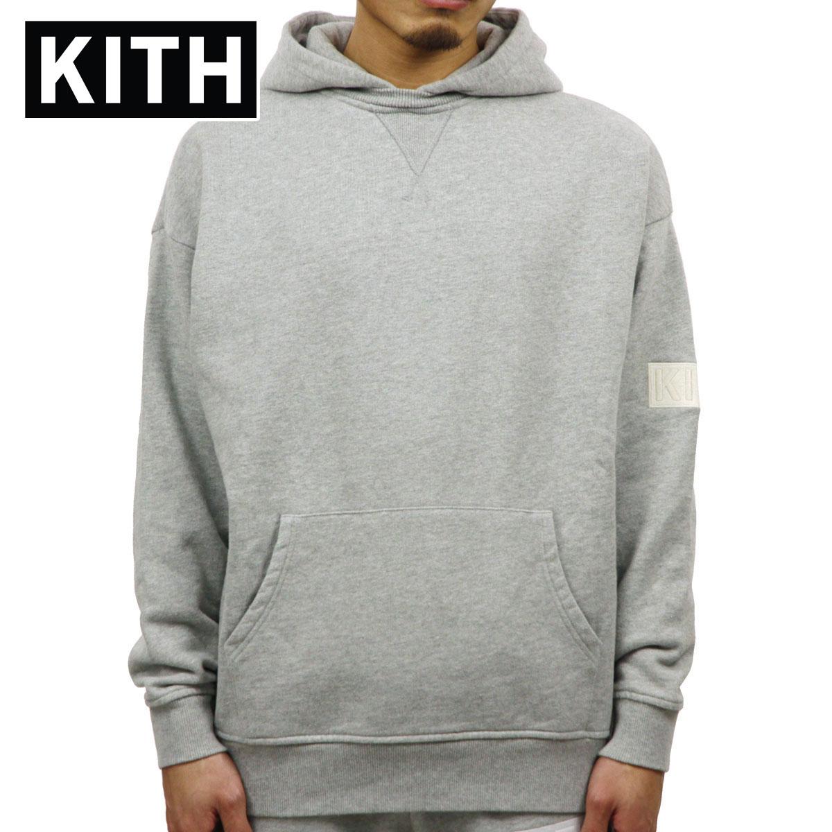 キス KITH 正規品 メンズ プルオーバーパーカー KITH WILLIAMS II HOODIE KH2221-103 HEATHER GREY