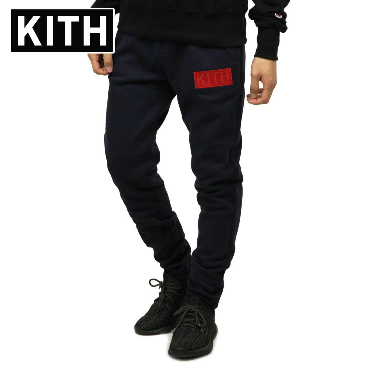 キス KITH 正規品 メンズ スウェットパンツ KITH WILLIAMS II SWEATPANT KH6160-102 NAVY