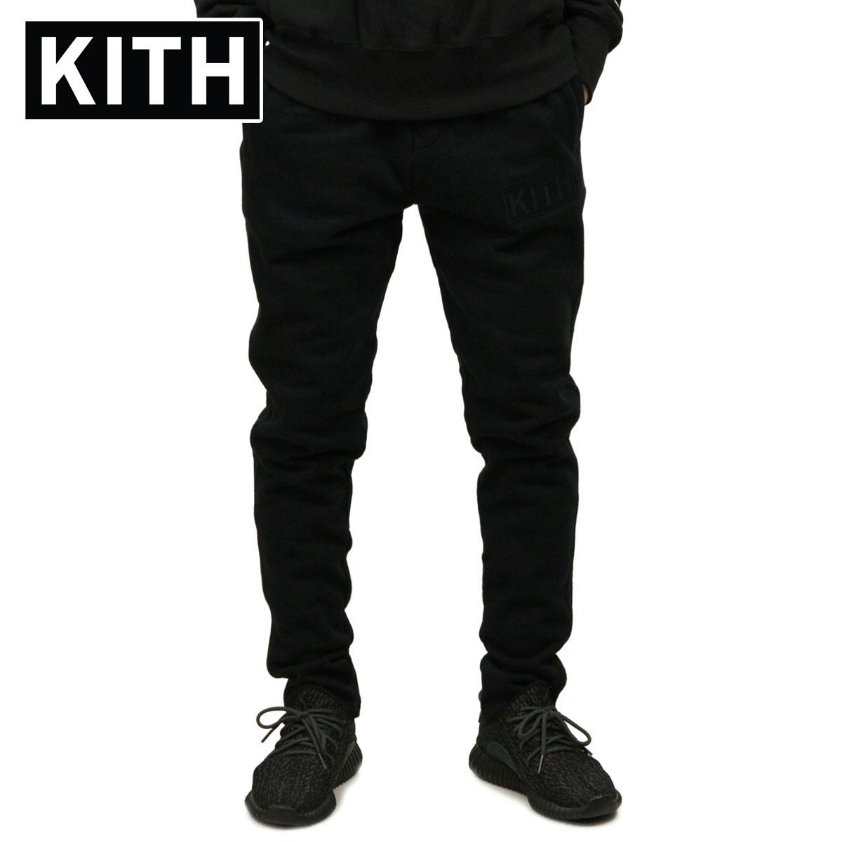キス KITH 正規品 メンズ スウェットパンツ KITH WILLIAMS II SWEATPANT KH6160-100 BLACK
