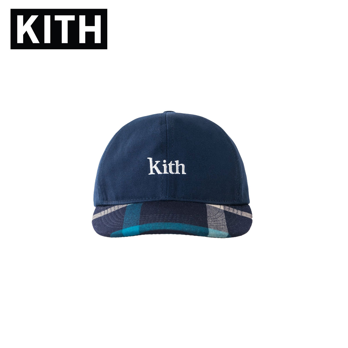 キス KITH 正規品 メンズ 帽子 キャップ KITH CREST FLAT CAP KH5188-102 NAVY / BLUE