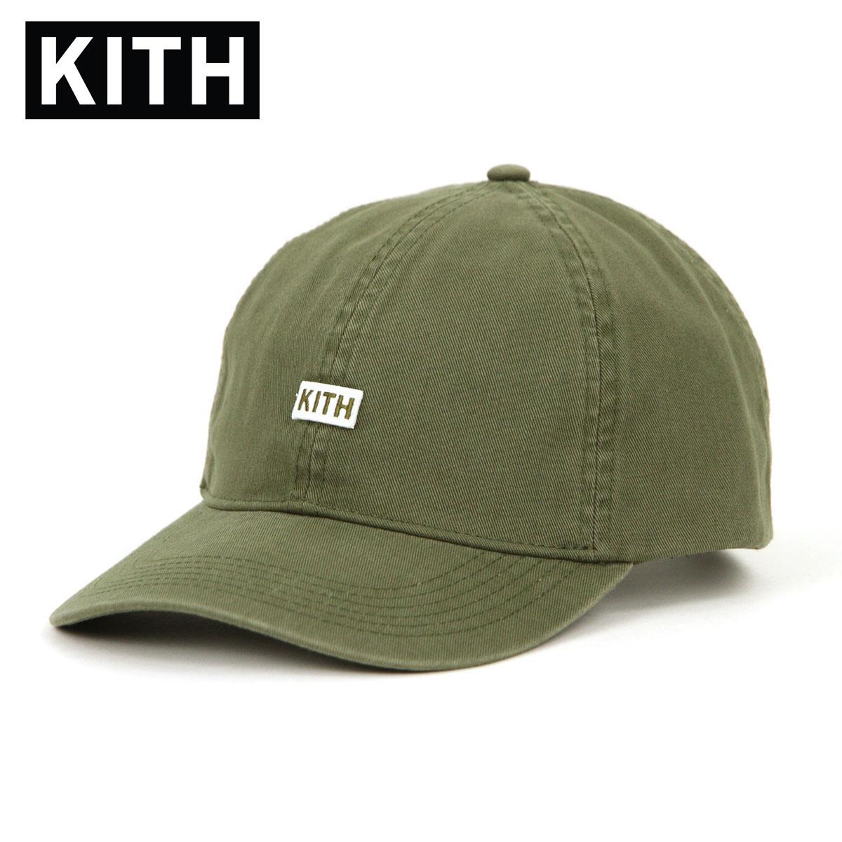 キス キャップ メンズ 正規品 KITH 帽子 帽子 KITH BL TWILL DAD CAP HAT KH5190-106 OLIVE 父の日