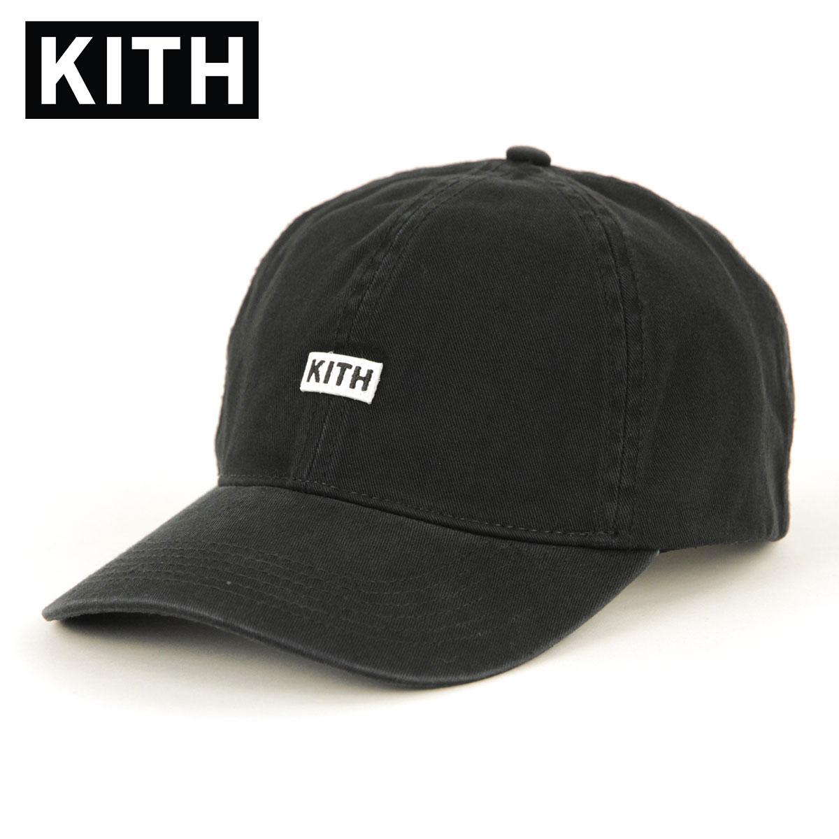 キス キャップ メンズ 正規品 KITH 帽子 KITH BL TWILL CAP KH5774-100 BLACK 父の日