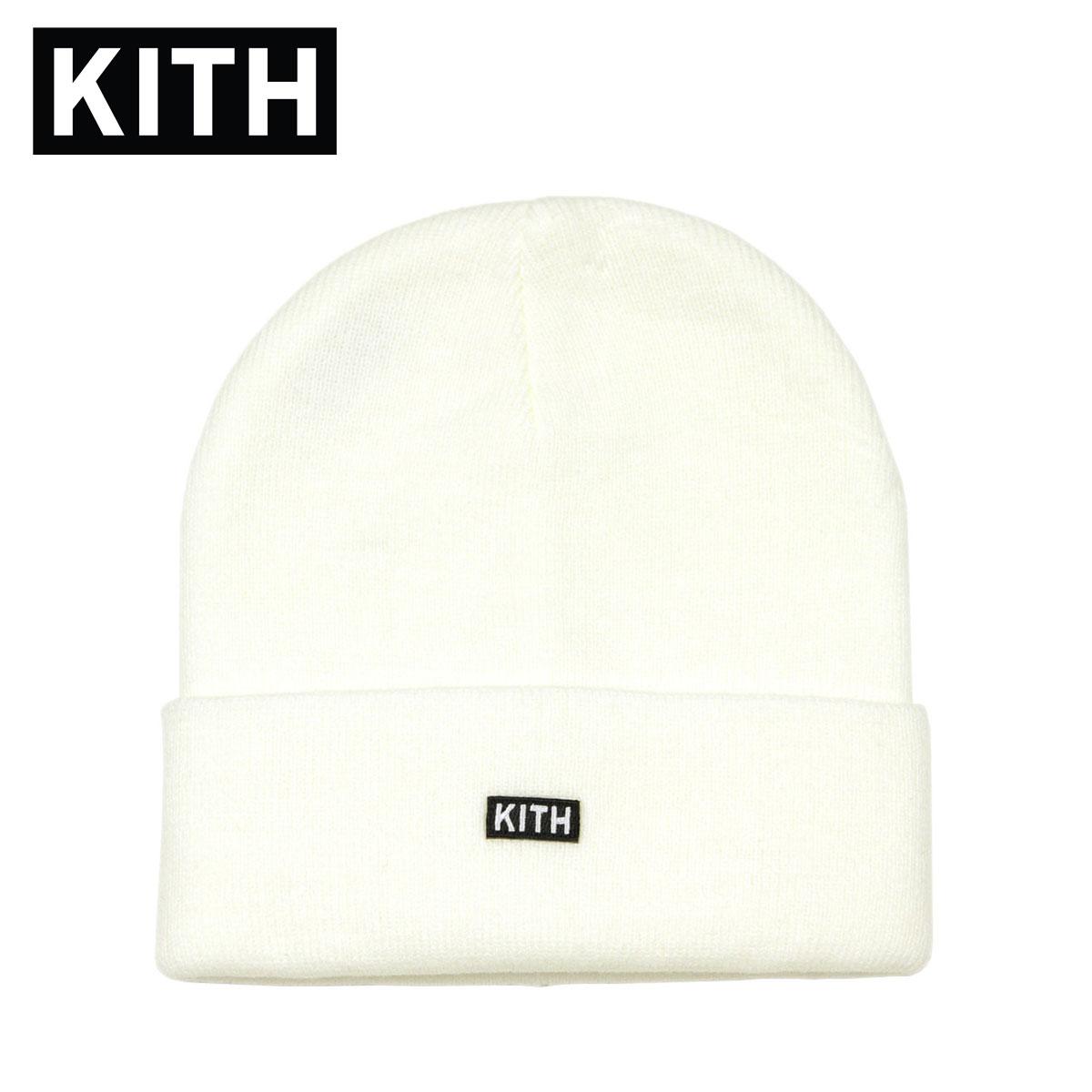 キス キャップ メンズ レディース 正規品 KITH 帽子 ビーニー ニットキャップ KITH CLASSIC DOCK BEANIE KHW5031-101 WHITE 父の日