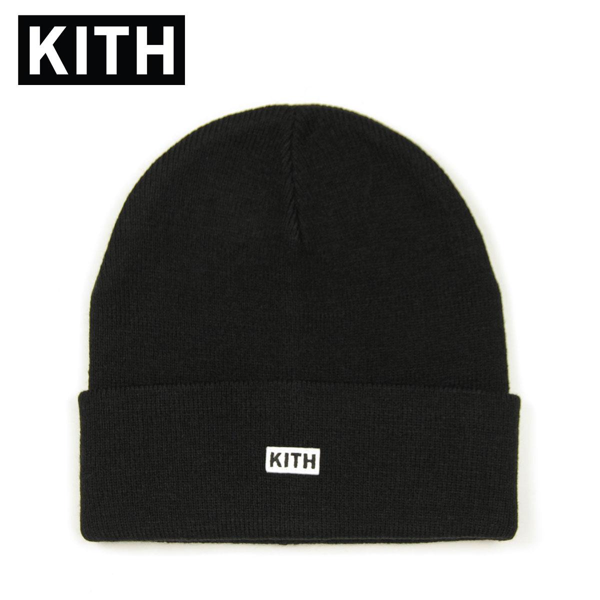 キス キャップ メンズ レディース 正規品 KITH 帽子 ビーニー ニットキャップ KITH CLASSIC DOCK BEANIE KHW5031-100 BLACK 父の日