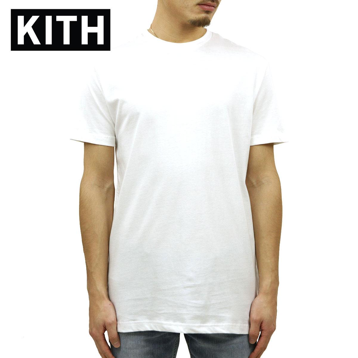 キス Tシャツ 正規品 KITH 半袖Tシャツ クルーネック 3枚組 KITH UNDERSHIRT 3-PACK KH3170-101 WHITE