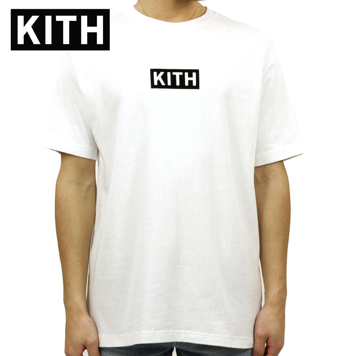キス Tシャツ 正規品 KITH 半袖Tシャツ クルーネック ボックスロゴ KITH FLOCK BOX TEE KH3588-101 WHITE
