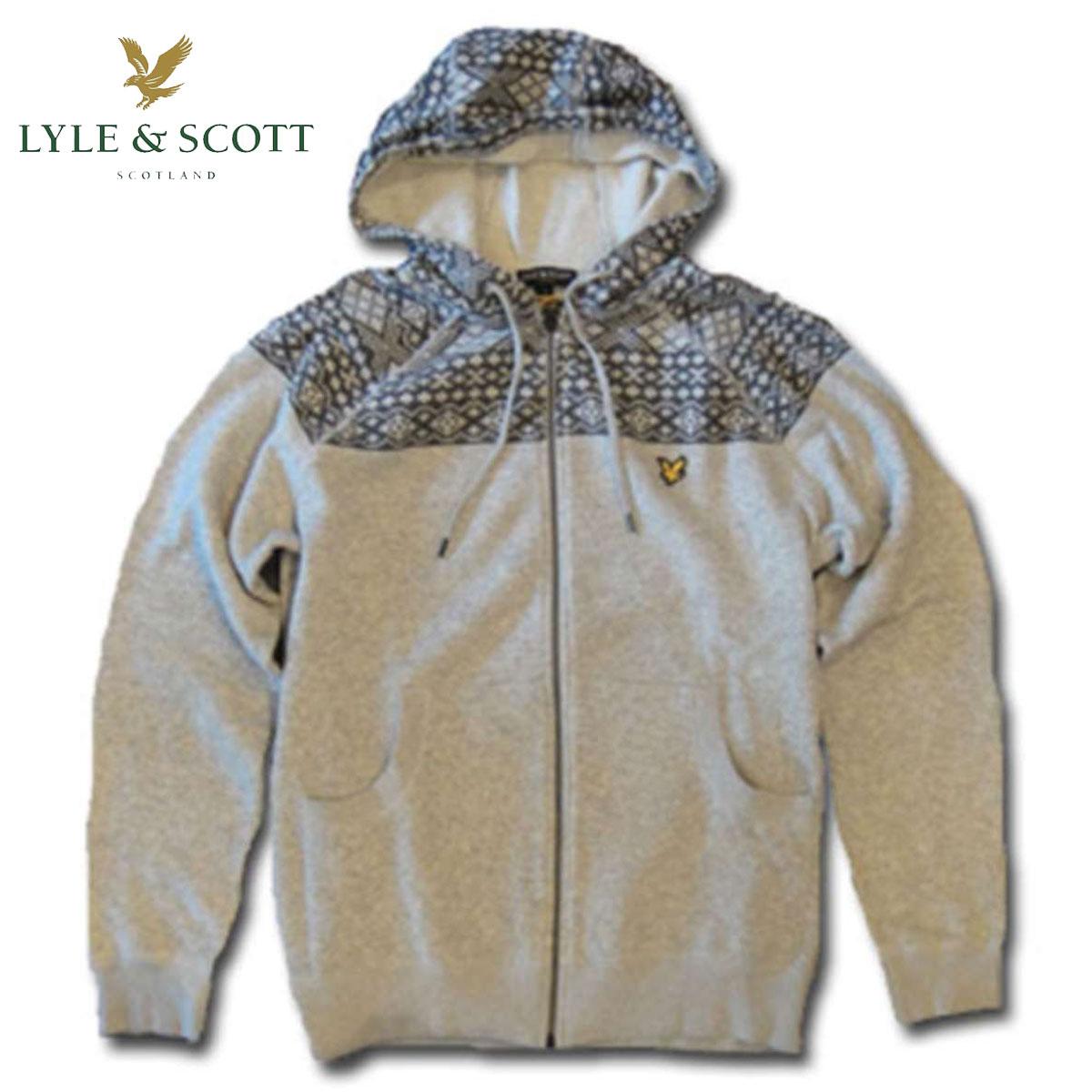 ライルアンドスコット LYLE&SCOTT 正規販売店 FAIRISLE HOOFED SWEATER フーデッドセーター ブレー D35S45