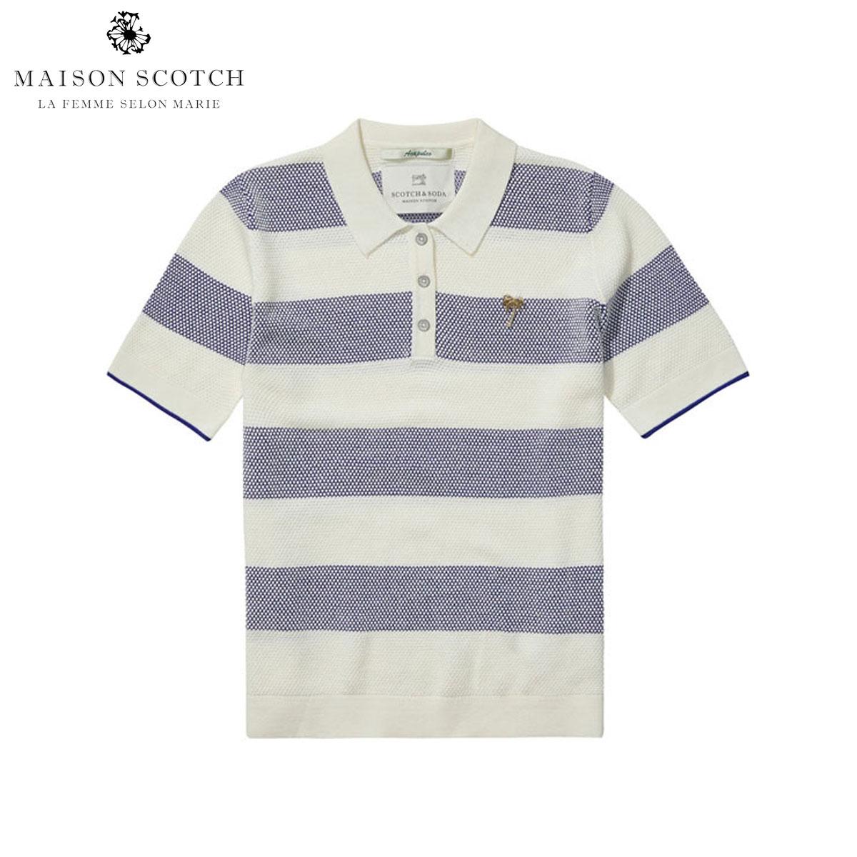 メゾンスコッチ MAISON SCOTCH 正規販売店 レディース 半袖ポロシャツ Knitted polo 131316 C
