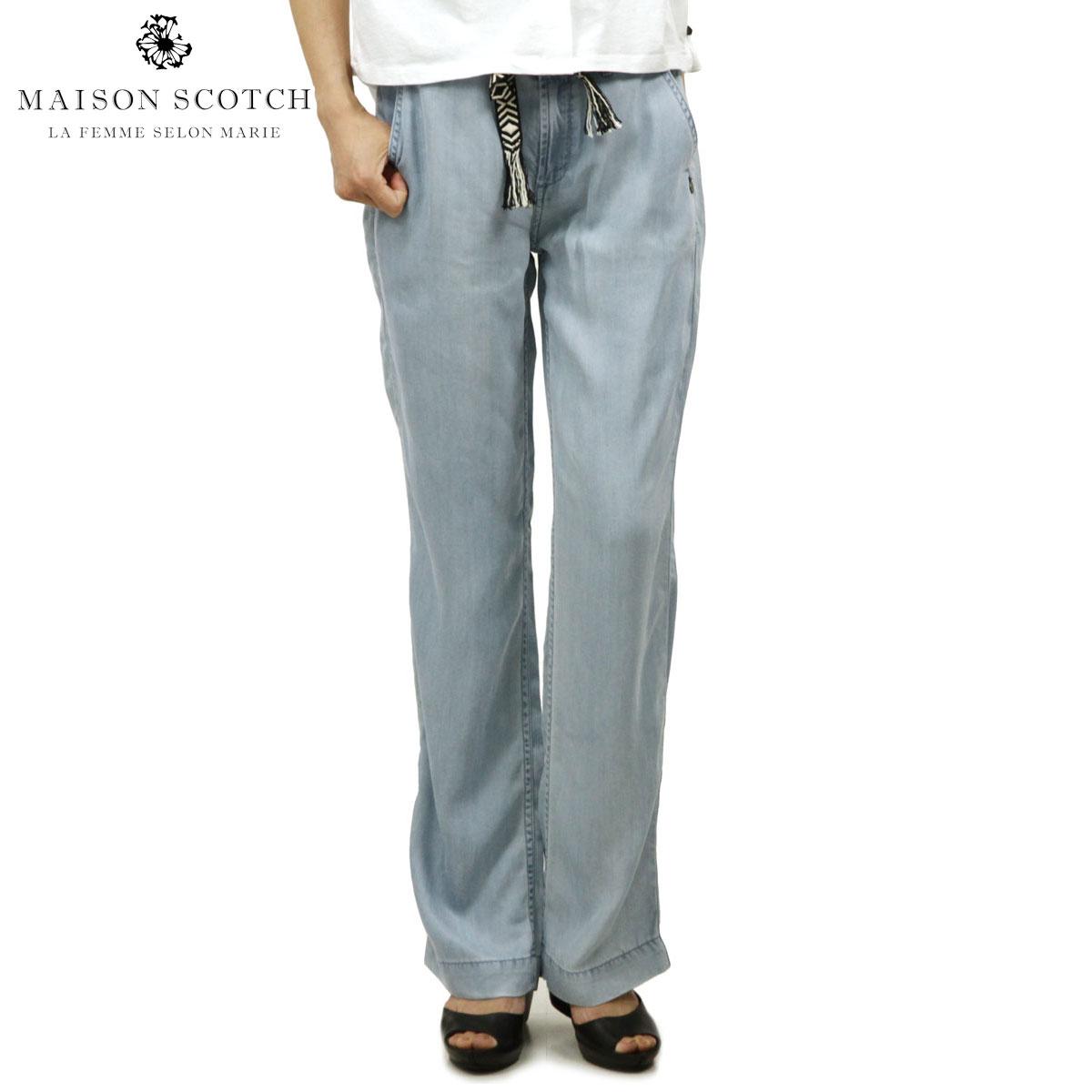 【販売期間 4/2 10:00~4/8 09:59】 メゾンスコッチ MAISON SCOTCH 正規販売店 レディース ロングパンツ New fit 'Dolly' wide leg pants, sold with a belt 131460 61 D15S25