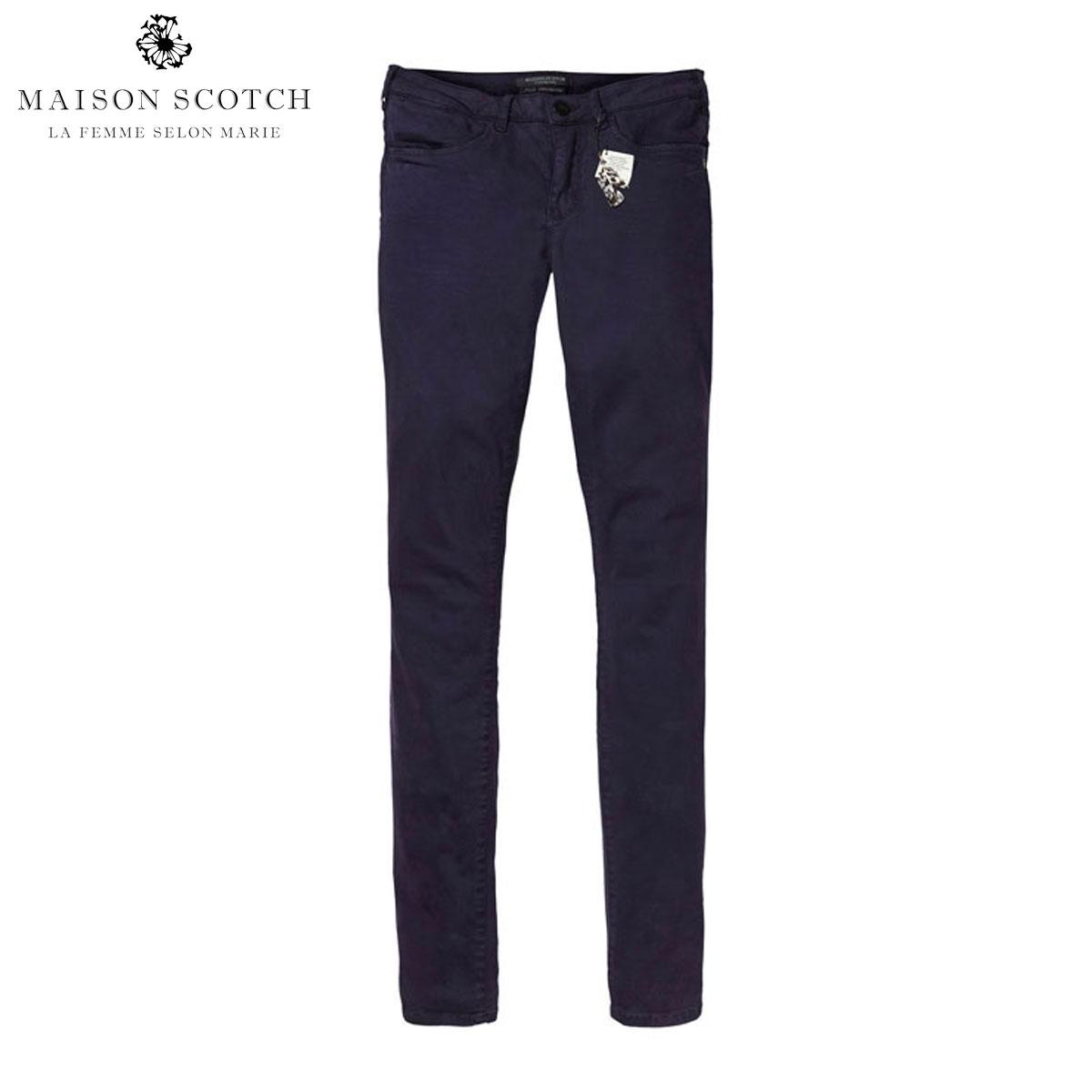 メゾンスコッチ MAISON SCOTCH 正規販売店 レディース ロングパンツ Garment dyed 'Bohemienne' skinny pants in sateen quality 131396 58 D00S20