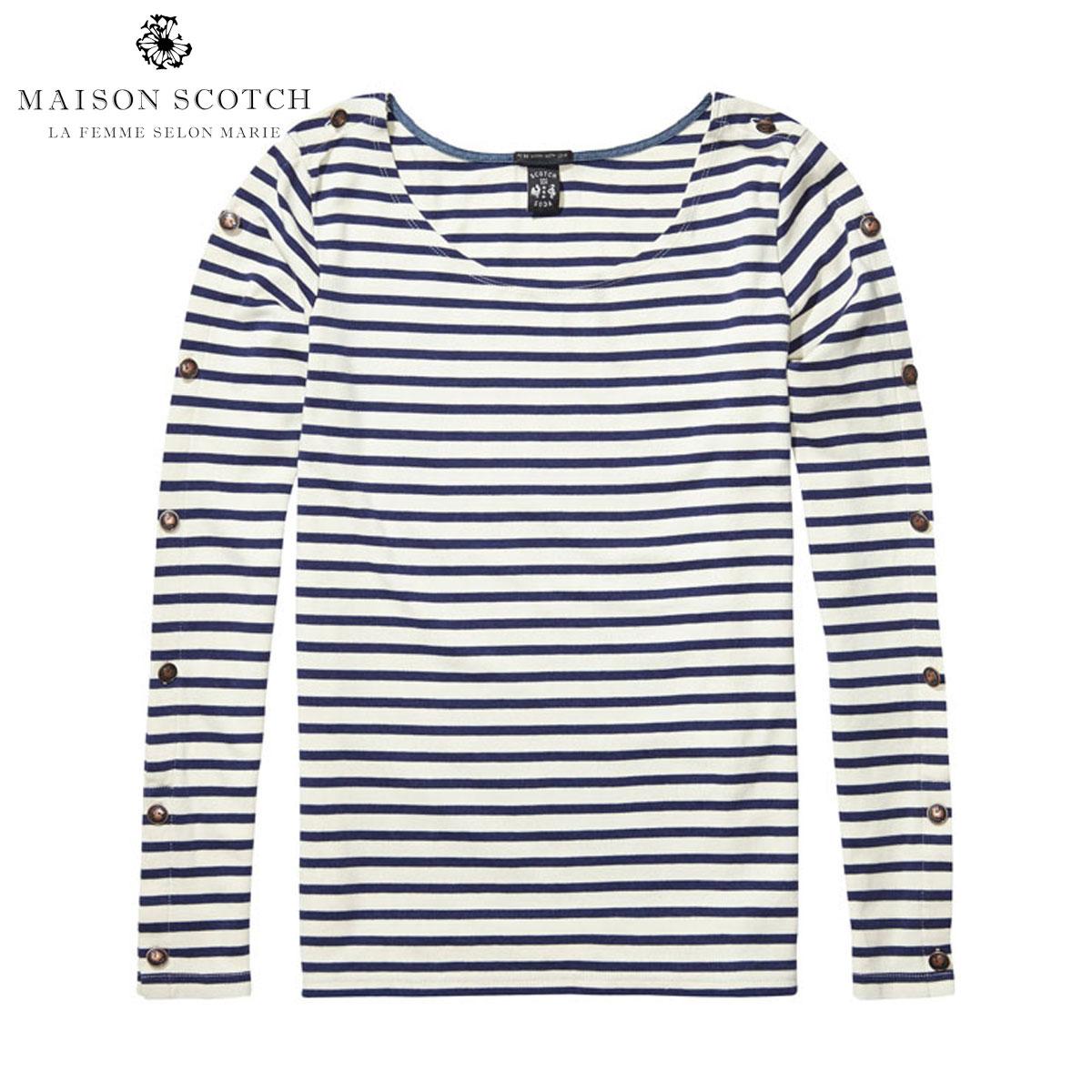 メゾンスコッチ MAISON SCOTCH 正規販売店 レディース 長袖Tシャツ L/S breton Tee 100218 B D00S20