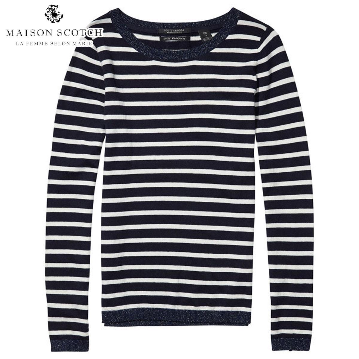 メゾンスコッチ MAISON SCOTCH 正規販売店 レディース 長袖Tシャツ Basic pullover with rib details 102206 17 D00S20