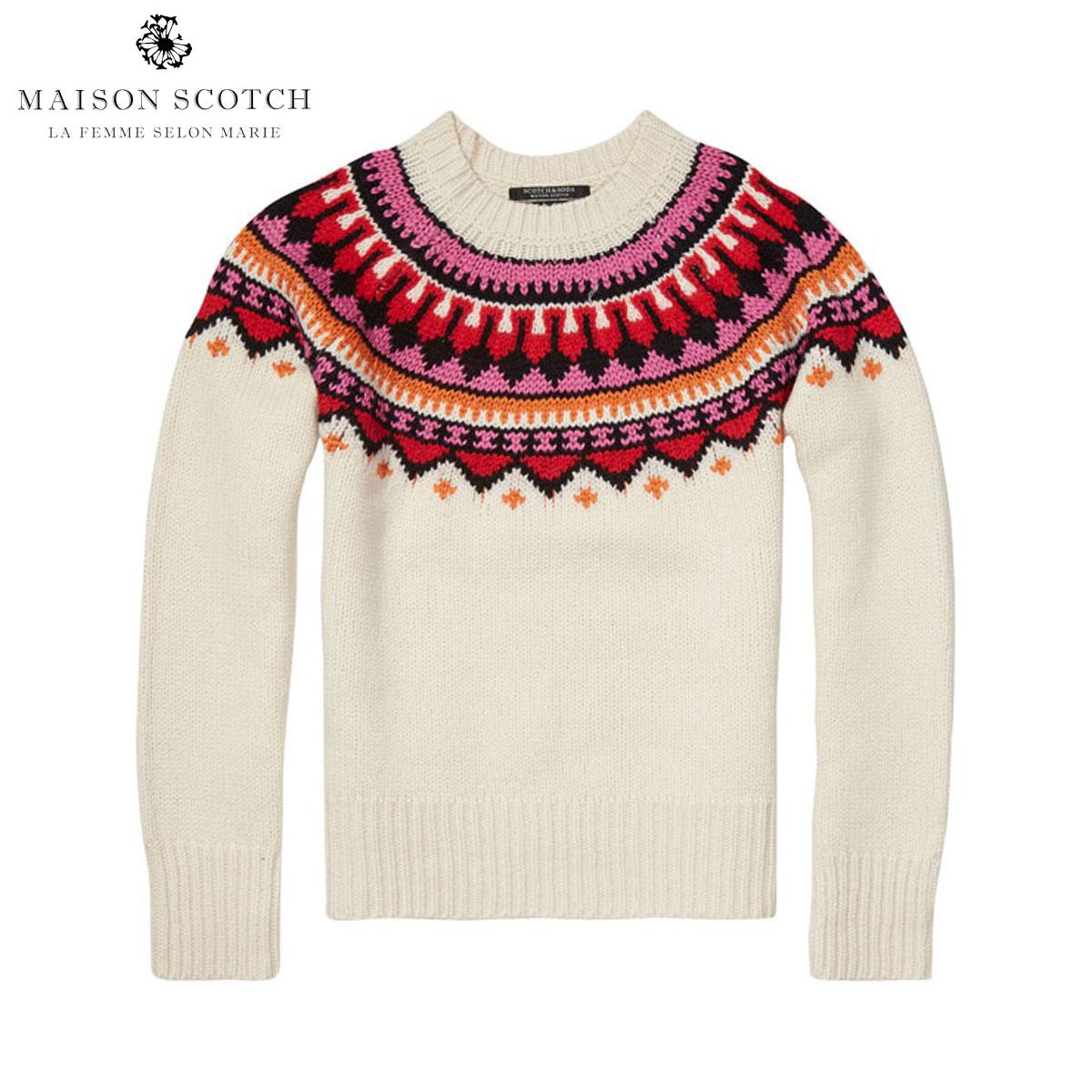 メゾンスコッチ MAISON SCOTCH 正規販売店 レディース セーター Soft chunky jacquard knit with pop colours 102234 17 D00S20
