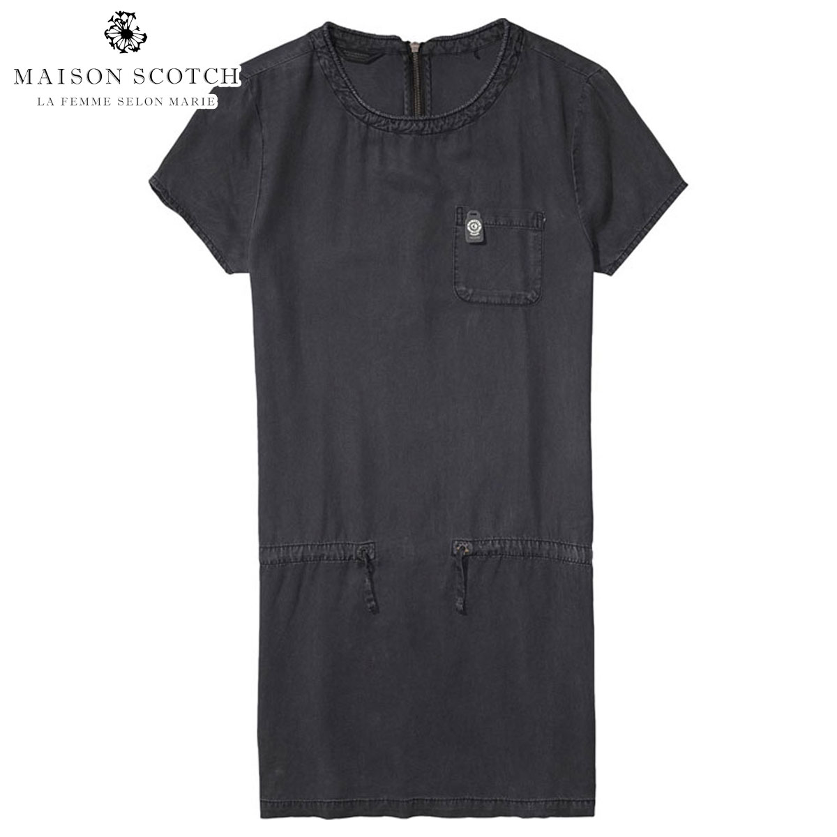 メゾンスコッチ MAISON SCOTCH 正規販売店 レディース ドレス Straight fit dress with zipper at centreback 100265 08 D00S20