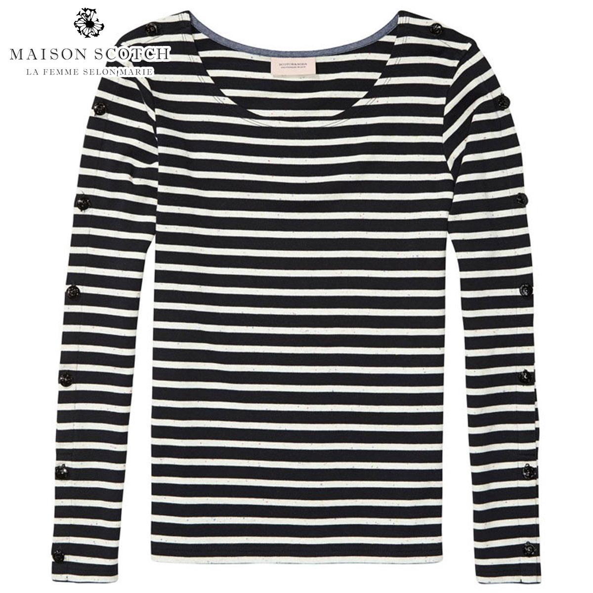 メゾンスコッチ MAISON SCOTCH 正規販売店 レディース 長袖Tシャツ BRETON T-SHIRT 134853 20 COMBO D