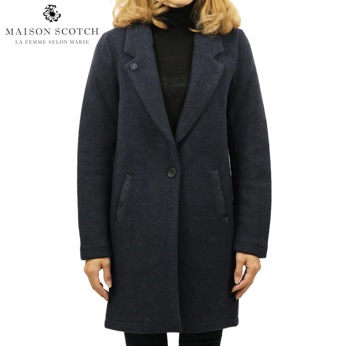 メゾンスコッチ MAISON SCOTCH 正規販売店 レディース コート BONDED WOOL COAT 138354 0788 41100 DENIM B