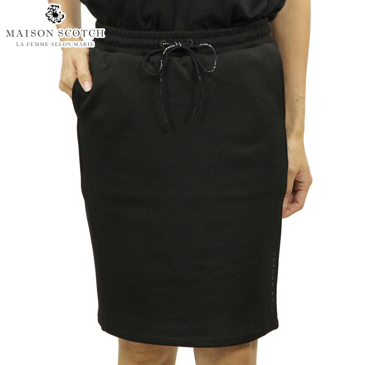 メゾンスコッチ MAISON SCOTCH 正規販売店 レディース スウェットスカート CLUB NOMADE SWEAT SKIRT 144591 08 61690 BLACK D