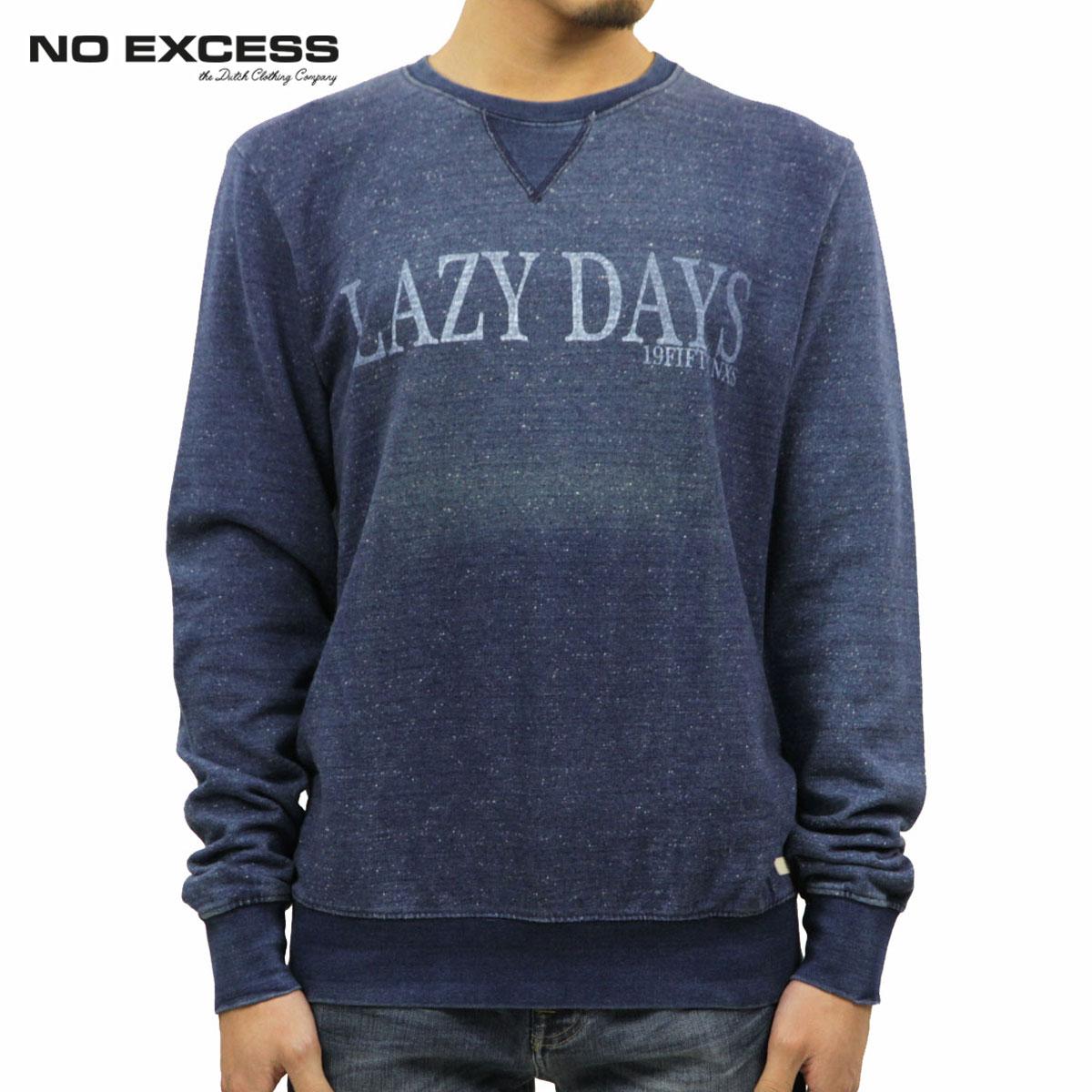 ノーエクセス NO EXCESS 正規販売店 メンズ セーター Sweater R-neck Real indigo chest print 110252 33 D15S25