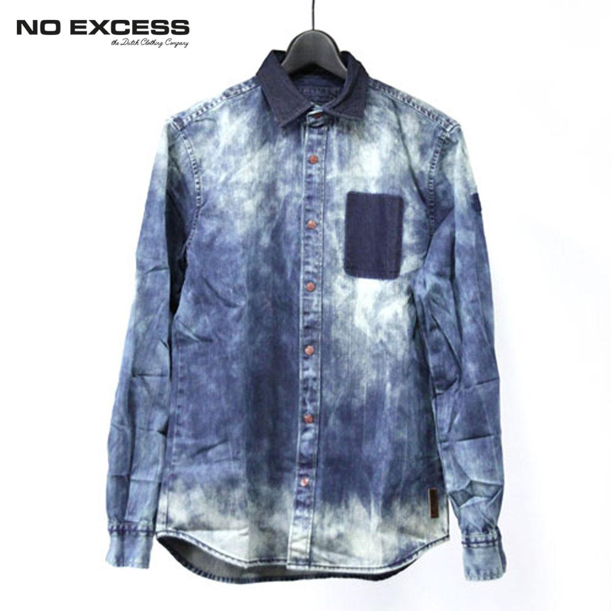 ノーエクセス NO EXCESS 正規販売店 メンズ 長袖シャツ Denim Shirts D15S25