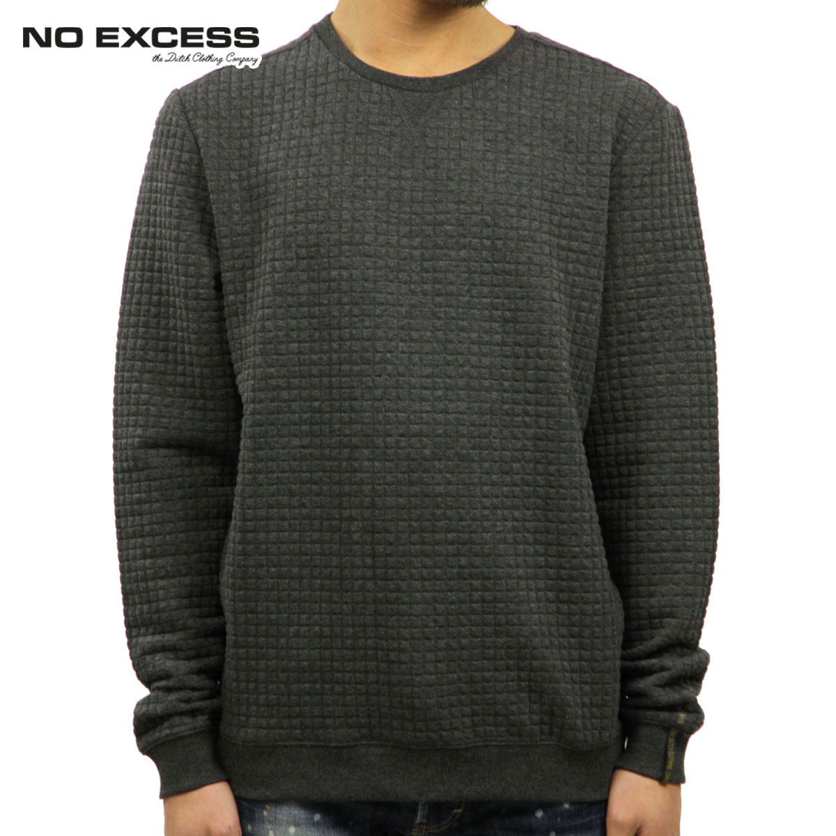 ノーエクセス NO EXCESS 正規品 メンズ セーター R-Neck Quilting Jacquard Knit Sweater100701103 D00S20