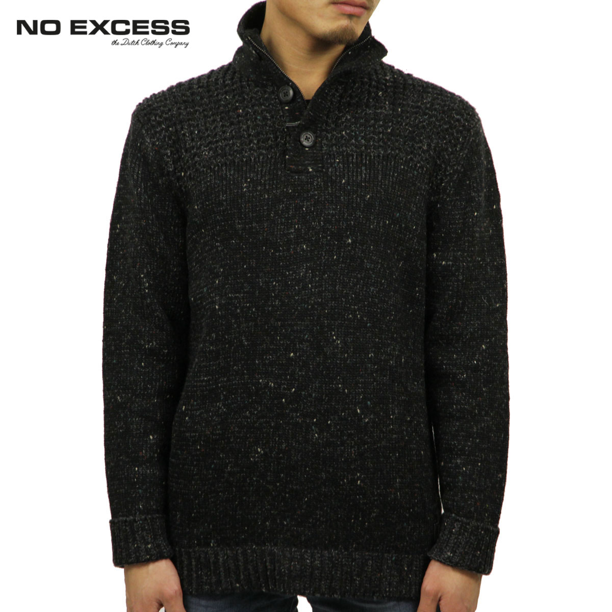 ノーエクセス NO EXCESS 正規品 メンズ セーター Half Button Zip Pullover Sweater230957020 D00S20