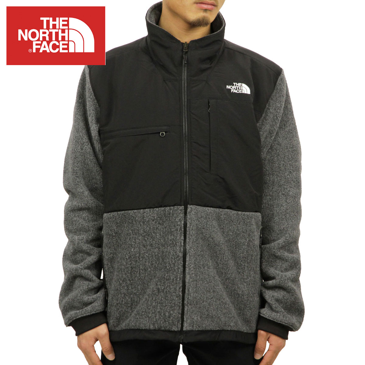 135edefd7 North Face THE NORTH FACE regular article men fleece jacket DENALI 2 FLEECE  JACKET RECYCLED CHARCOAL GREY HEATHER / TNF BLACK NF0A2RDK MA9