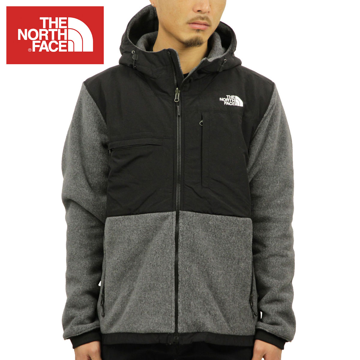 North Face THE NORTH FACE regular article men fleece jacket DENALI 2 FLEECE  HOODIE JACKET RECYCLED CHARCOAL GREY HEATHER   TNF BLACK NF0A2TBN MA9 7e36084f8