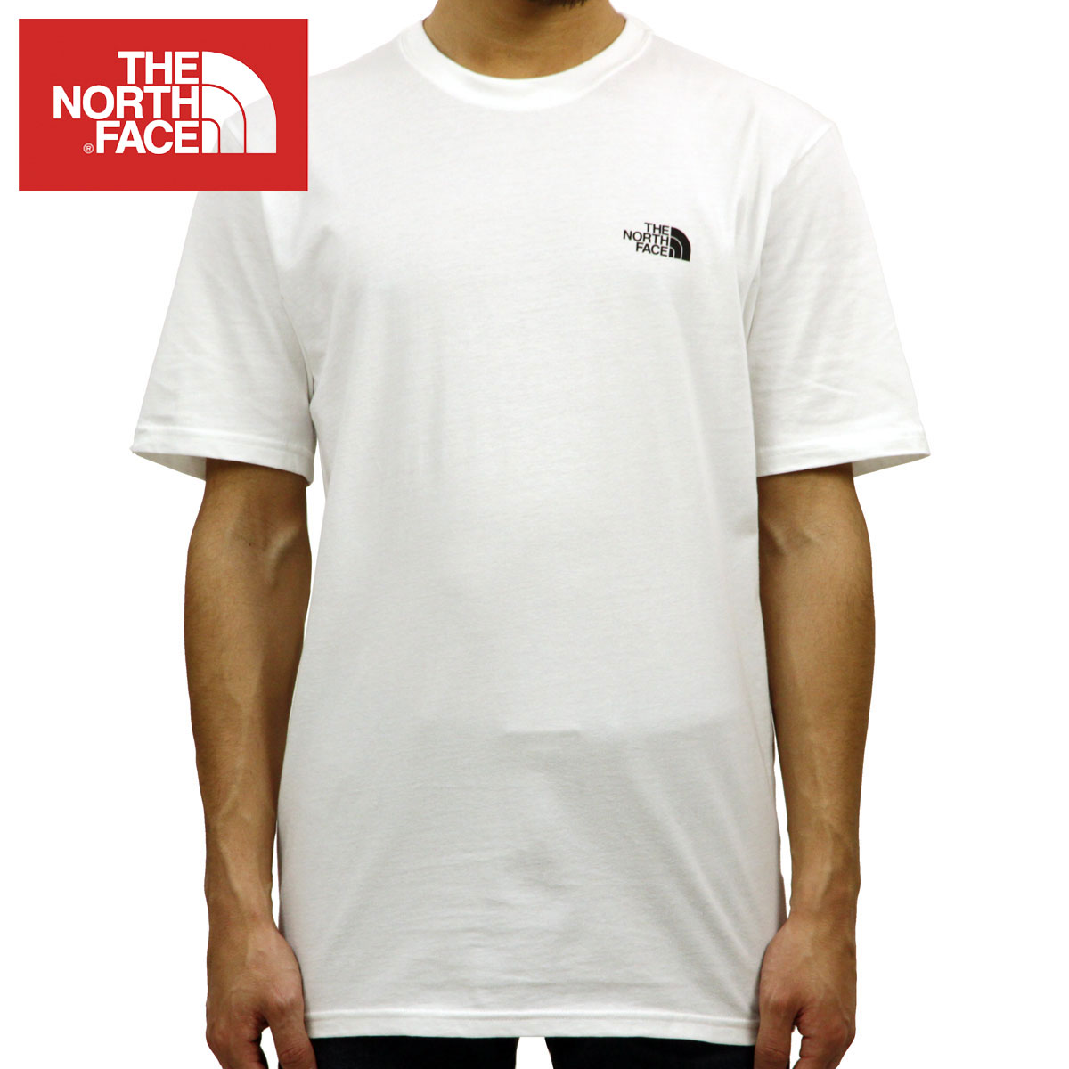691589ca2 North Face THE NORTH FACE regular article men crew neck short sleeves  T-shirt TNF THROWBACK TEE RTO WHITE