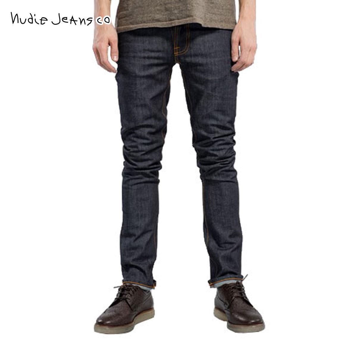 【販売期間 4/2 10:00~4/8 09:59】 ヌーディージーンズ Nudie Jeans 正規販売店 メンズ ジーンズ Grim Tim 054 Dry Navy 054 1113040 D15S25