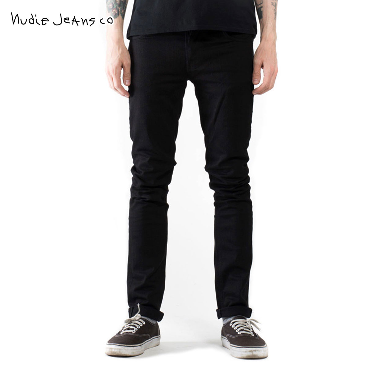 ヌーディージーンズ Nudie Jeans 正規販売店 メンズ ジーンズ Grim Tim Org. Black Ring 996 1112390