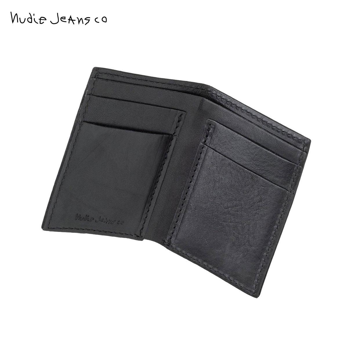 ヌーディージーンズ 財布 正規販売店 HAGDAHL WALLET SADDLE LEATHER BLACK B01 180900 D00S20 父の日