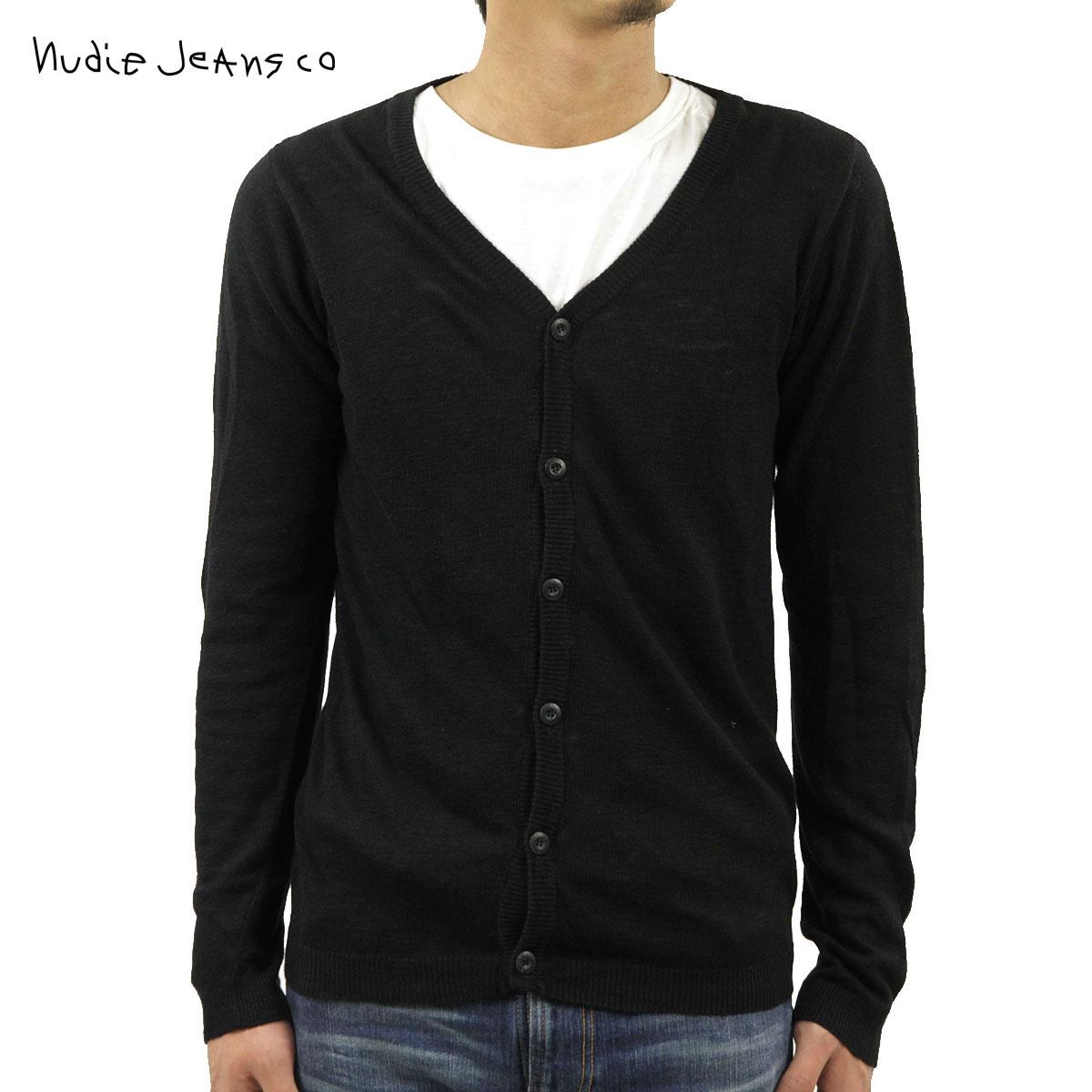 ヌーディージーンズ セーター メンズ 正規販売店 Nudie Jeans カーディガン Botvid Cardigan Embo 150134 BLACK