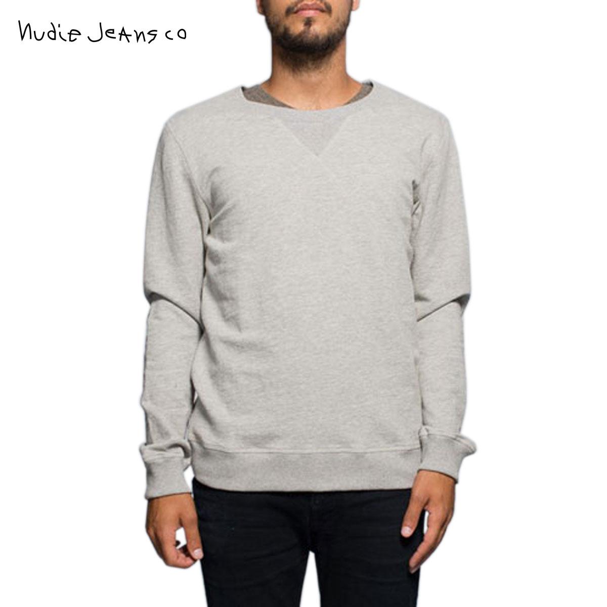 ヌーディージーンズ Nudie Jeans 正規販売店 メンズ スウェット Sweatshirt Org. Backbone Grey melange B04 150161 4024 D00S20