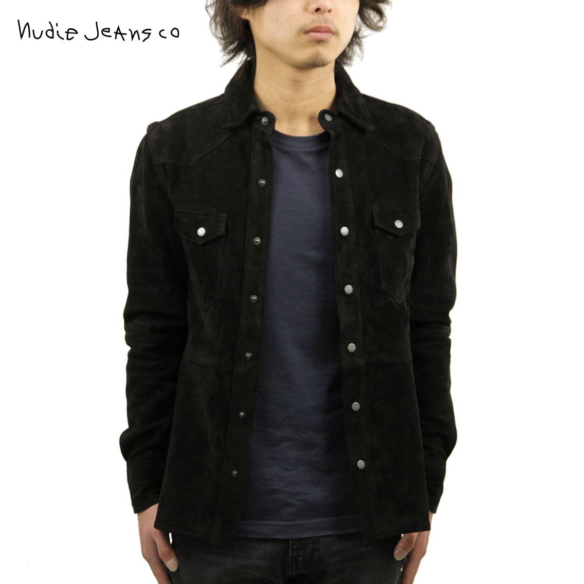 ヌーディージーンズ Nudie Jeans 正規販売店 メンズ 長袖シャツ Jonis Suede Shirt Black B01 140300 3027 D15S25