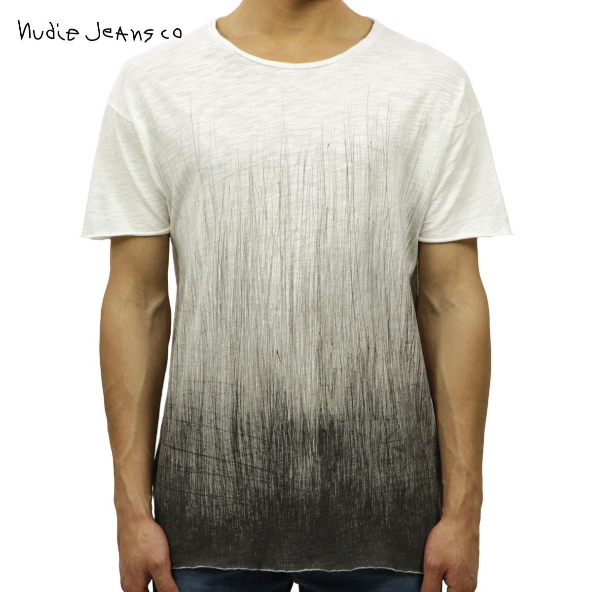 20%OFFセール 【販売期間 12/19 20:00~12/26 01:59】 ヌーディージーンズ Tシャツ 正規販売店 Nudie Jeans 半袖Tシャツ Raw Hem T-shirt 131352 4033 W08 Offwhite/Black