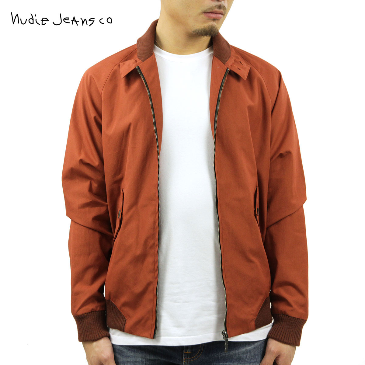 ヌーディージーンズ Nudie Jeans 正規販売店 メンズ アウタージャケット ヌーディージーンズ Niklas 160357 5007 R02 Rust D15S25