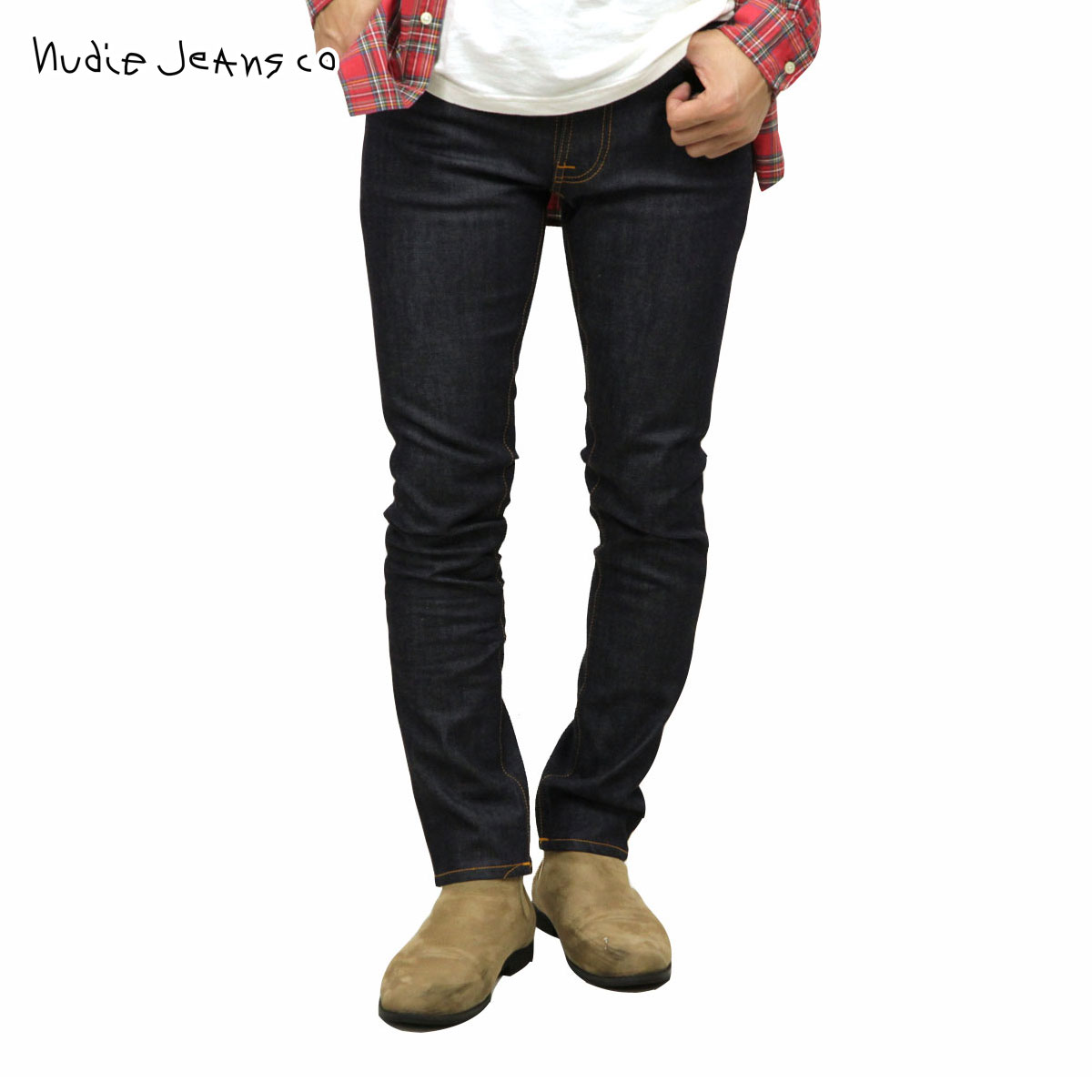 ヌーディージーンズ Nudie Jeans 正規販売店 メンズ ジーンズ レンディーン LEAN DEAN 498 1119460 DENIM JEANS BLACK DRY 16 DIPS
