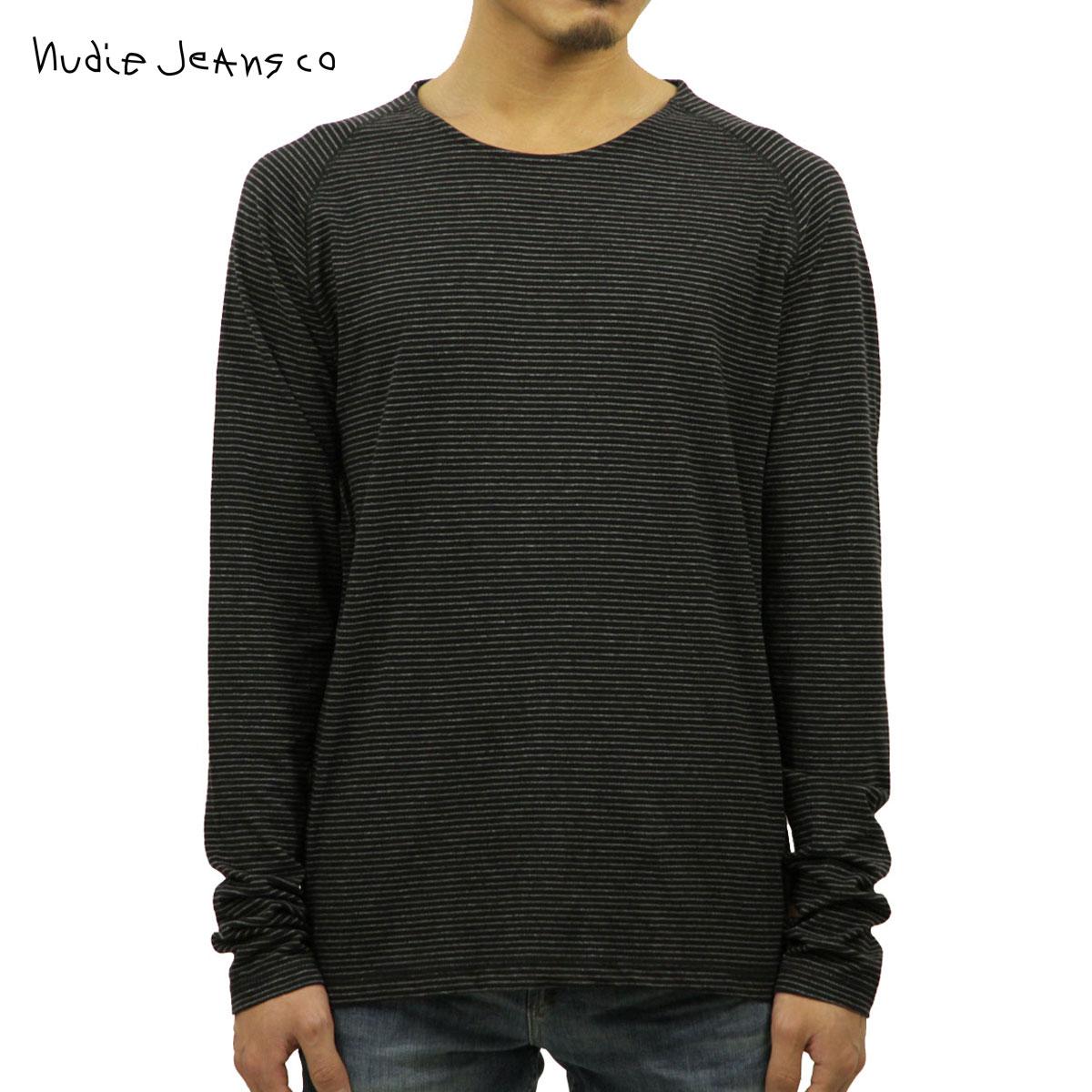 ヌーディージーンズ Nudie Jeans 正規販売店 メンズ 長袖Tシャツ Otto Raglan Black/Grey 131390 D15S25