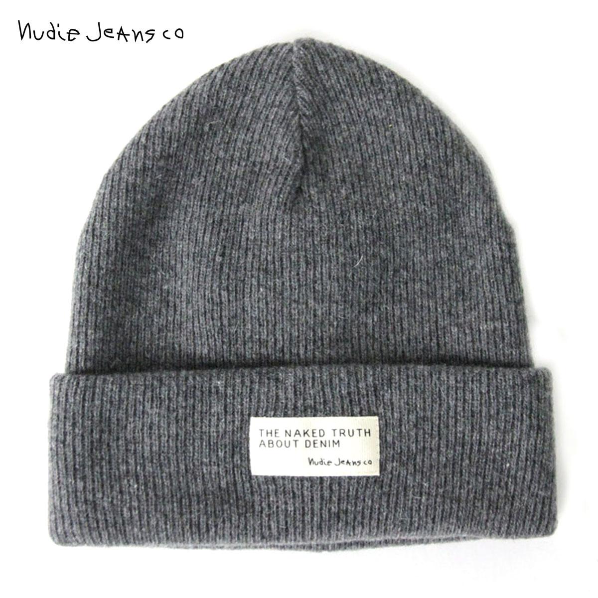 【ポイント10倍 12/19 20:00~12/26 09:59まで】 ヌーディージーンズ Nudie Jeans 正規販売店 帽子 ヌーディージーンズ Liamsson Beanie Grey 180570