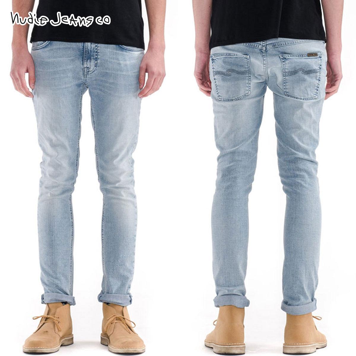 ヌーディージーンズ Nudie Jeans 正規販売店 メンズ ジーンズThin Finn Broken Pale 608 1120640