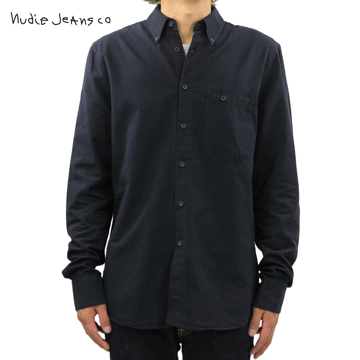 ヌーディージーンズ Nudie Jeans 正規販売店 メンズ 長袖シャツ Stanley B68 Indigoblack 140431 D00S20