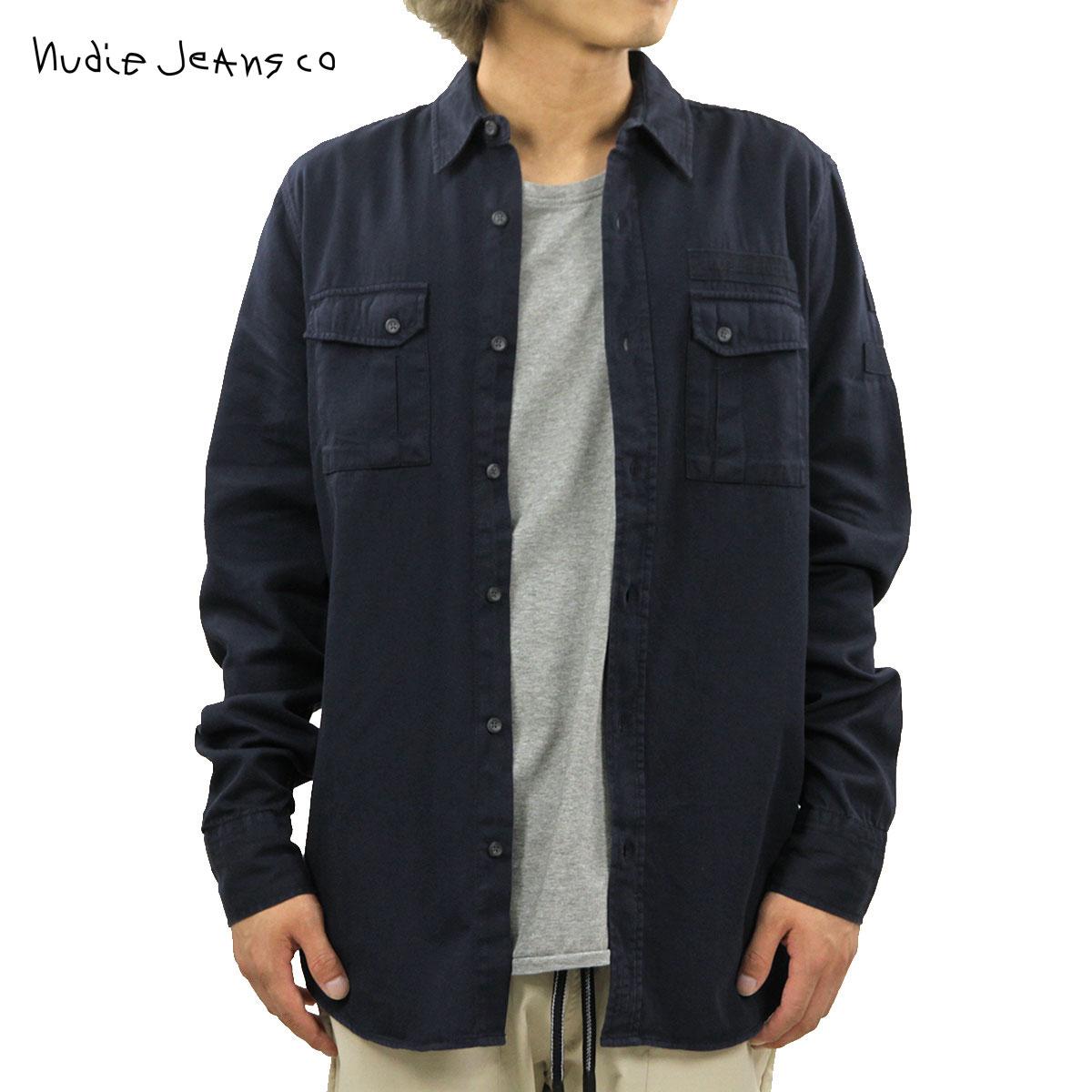 ヌーディージーンズ Nudie Jeans 正規販売店 メンズ 長袖シャツ Gunnar B25 Navy 140445 D00S20