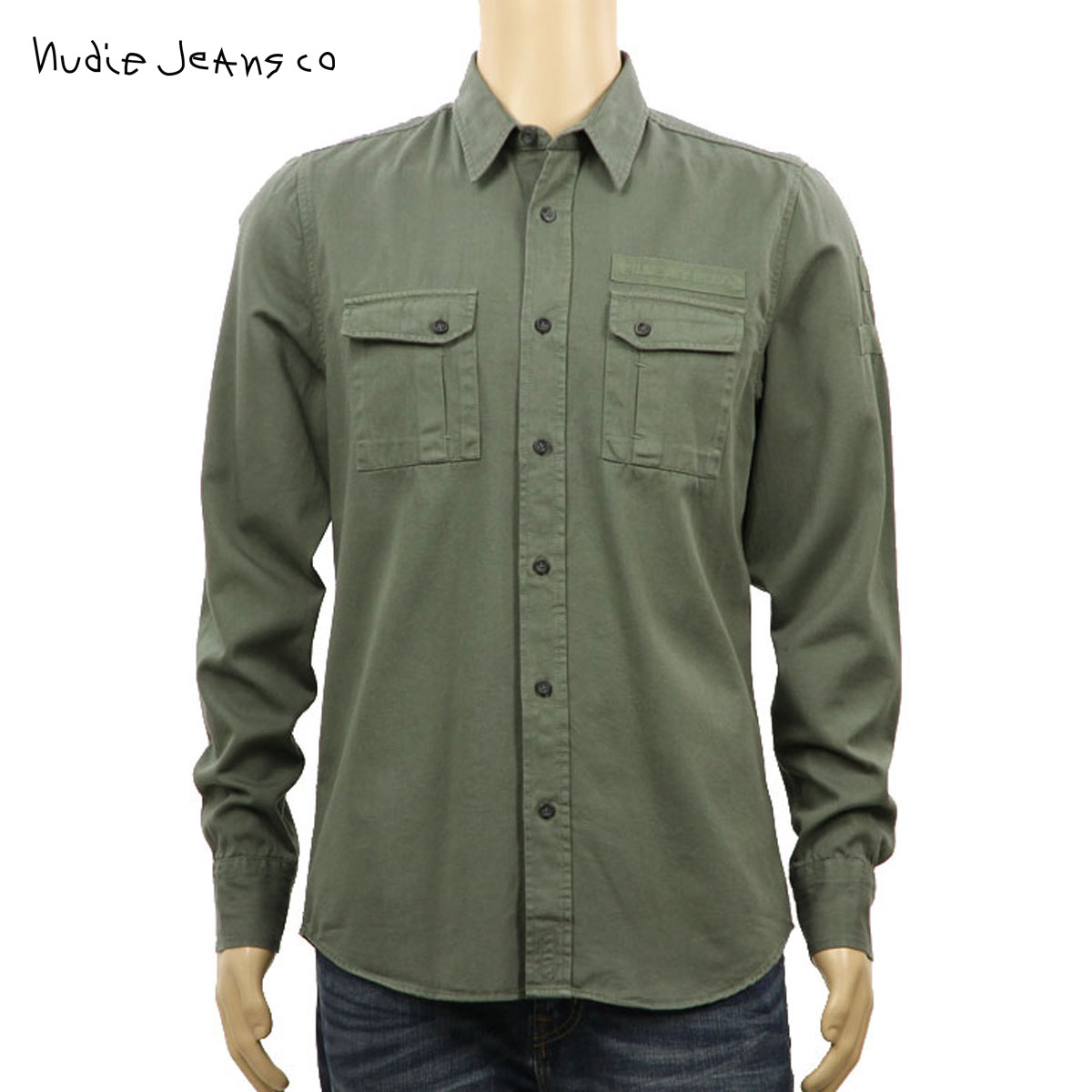 ヌーディージーンズ Nudie Jeans 正規販売店 メンズ 長袖シャツ Gunnar B92 Lummer 140445 D00S20